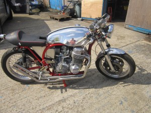 Steves Manx Norton framed CB750